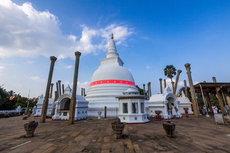 veneration: Thuparamaya is a dagoba in Anuradhapura, Sri Lanka. It is a Buddhist sacred place of veneration. Editorial