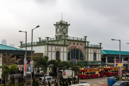 edwardian: Central Ferry Pier on Hong Kong Island is known for its Edwardian architecture. This famous pier was built to replace the former Edinburgh Place Ferry. Editorial
