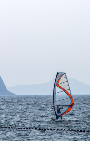 adrenaline rush: windsurfing Stock Photo
