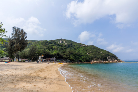 repulse: Chung Hom Kok Beach in Stanley Hong Kong Stock Photo