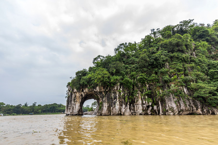 river trunk: Elephant Trunk Hill in Guilin China