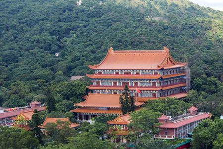 lantau: o Lin Monastery is a Buddhist monastery located on Ngong Ping Plateau on Lantau Island Hong Kong. Stock Photo