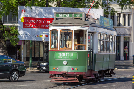 electrico: Lisbon tram tour in historical route. Editorial