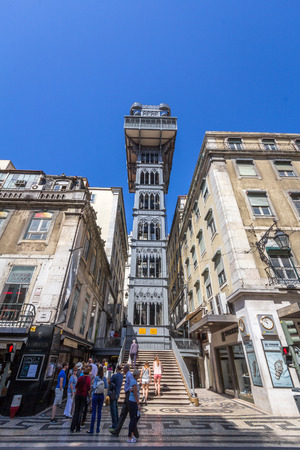 The Santa Justa Lift, also called Carmo Lift, is an elevator in civil parish of Santa Justa, in the city of Lisbon, situated at the end of Rua de Santa Justa. Editorial