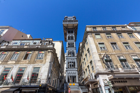 justa: The Santa Justa Lift, also called Carmo Lift, is an elevator in civil parish of Santa Justa, in the city of Lisbon, situated at the end of Rua de Santa Justa. Editorial
