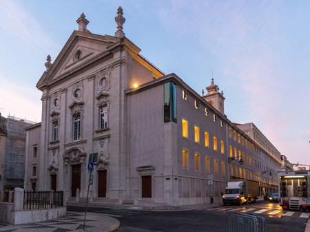 decades: The Money Museum in Lisbon, Portugal. It is the former Church of St. Julian, rebuilt after the 1755 earthquake and in recent decades turned into a car park.