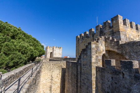 jorge: Sao Jorge Castle in Lisbon Portugal