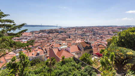 jorge: View from Sao Jorge Castle in Lisbon Portugal. Editorial