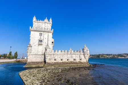 initiated: The Belem Tower, one of the most famous and visited landmarks in Portugal. Its construction was initiated in 1515 and completed in 1519.