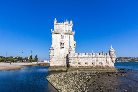 The Belem Tower, one of the most famous and visited landmarks in Portugal. Its construction was initiated in 1515 and completed in 1519.