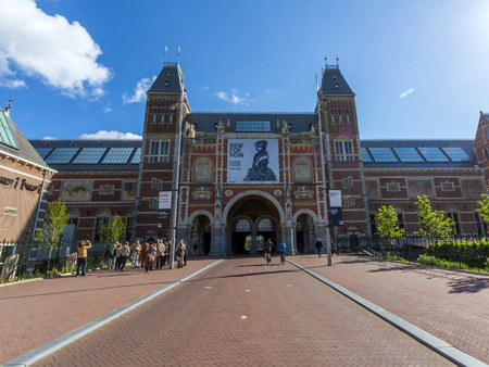 van gogh: The Rijksmuseum is a Netherlands national museum dedicated to arts and history. It is located at the Museum Square close to the Van Gogh Museum. Editorial