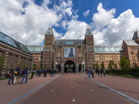 The Rijksmuseum is a Netherlands national museum dedicated to arts and history. It is located at the Museum Square close to the Van Gogh Museum. Editorial