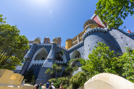 pena: Pena National Palace in Sintra, Lisbon