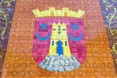 moorish clothing: Coat of arms of Sintra. It is a town and a municipality in the Grande Lisboa subregion Lisbon Region of Portugal. Editorial