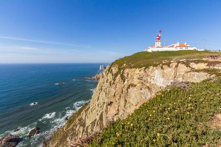 roca: Cabo da Roca Cape Roca  lighthouse and cliffs.