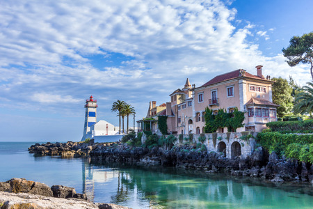 Santa Marta Lighthouse and Museum in Cascais, Portugal
