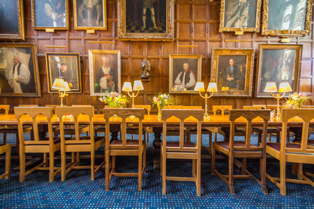 great hall: The great hall of Christ Church, University of Oxford, England. It is the center of college life where academic community congregates to dine each day.