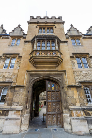 oxford: Canterbury Gate of Christ Church in the University of Oxford, England. It is the second wealthiest Oxford college by financial endowment after St Johns.