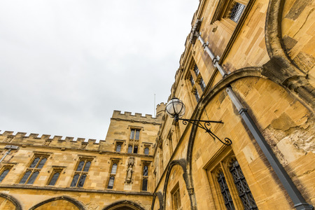 college life: Architectural details of Christ Church, University of Oxford, England. It is the center of college life where academic community congregates to dine each day.