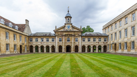 Emmanuel College in the University of Cambridge, England. It was founded in 1584 by Sir Walter Mildmay, Chancellor of the Exchequer to Elizabeth I. Editorial