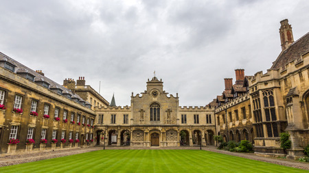 Peterhouse chapel. Peterhouse is the oldest college of the University of Cambridge, England. It was founded in 1284 by Hugo de Balsham and Bishop of Ely.