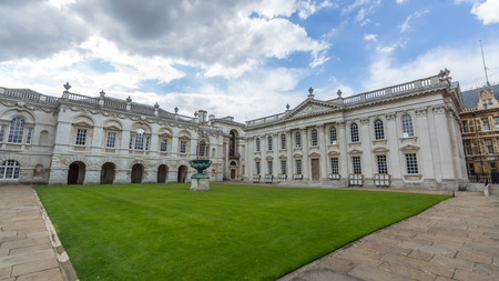 senate: Senate house and the old schools of Cambridge, England. Editorial
