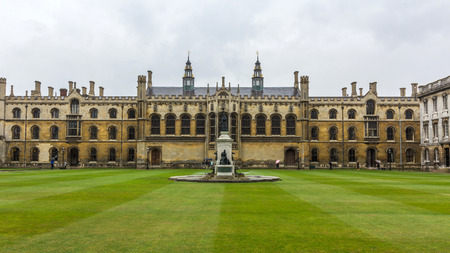 Wilkins Building in the Kings College of the University of Cambridge in England. It lies besides the River Cam and faces out onto Kings college chapel and front court