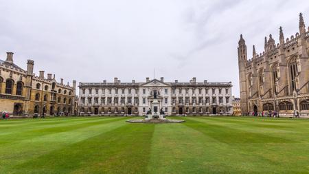 Le bâtiment de l'Gibbs à College du Roi de l'Université de Cambridge en Angleterre. Il se trouve en dehors de la rivière Cam et fait face à sur King Parade dans le centre-ville. Banque d'images - 45497209