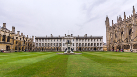 The Gibbs Building in the Kings College of the University of Cambridge in England. It lies besides the River Cam and faces out onto Kings Parade in the city centre.