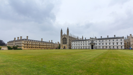 Kings College of the University of Cambridge in England. It lies besides the River Cam and faces out onto Kings Parade in the centre of the city.
