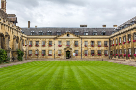square shape: Peterhouse is the oldest college of the University of Cambridge, England. It was founded in 1284 by Hugo de Balsham and Bishop of Ely.
