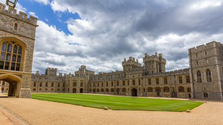 berkshire: Visotors apartments of Windsor Castle. It is a royal residence at Windsor in the English county of Berkshire. The castle is notable for its architecture.