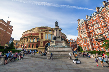 knightsbridge: Royal Albert Hall. It is a concert hall on the northern edge of South Kensington, London, best known for holding the Proms concerts annually each summer since 1941.