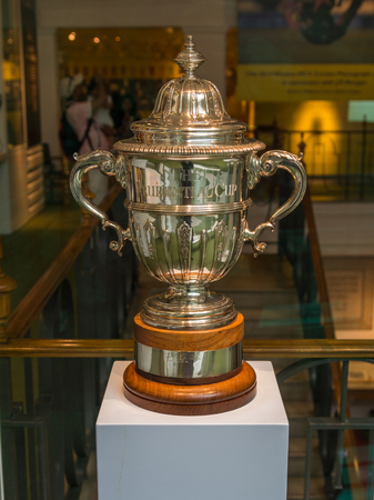middlesex: Prudential Cup trophy kept at MCC cricket museum which is attached to the Lords Cricket Ground in London, UK. It was used as the Cricket Worldcup Trophy between 1975-1983.