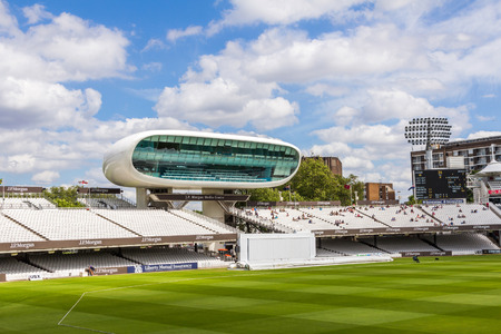 cricket game: Lords Cricket Ground in London, England. It is referred to as the home of cricket and is home to the worlds oldest cricket museum. Editorial