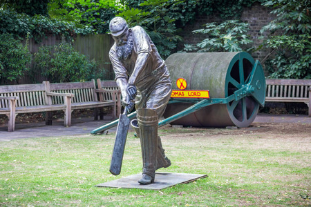 lord's: Statue of W.G. Grace at Lords cricket ground in London, UK. He was an English amateur cricketer who is widely considered one of its greatest-ever players. Editorial