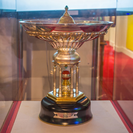 middlesex: The Pataudi Trophy is awarded to the winner of the England-India Test Cricket series held in England. It is kept at MCC cricket museum in London, UK. Editorial