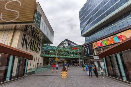 newham: Westfield Stratford City is a shopping centre in Stratford, London. The centre opened on 13 September 2011 and it is one of the largest urban shopping centres in Europe.