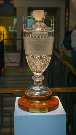 middlesex: The Ashes Thophy which was presented by Marylebone Cricket Club in 1999. It is kept at MCC cricket museum which is attached to the Lords Cricket Ground in London, UK.