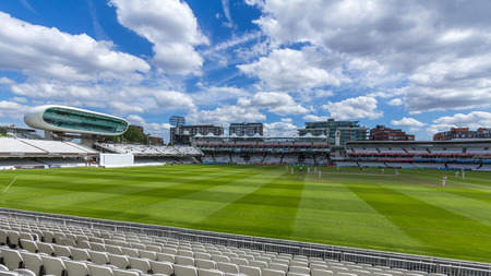 Lords Cricket Ground in London, England. It is referred to as the home of cricket and is home to the worlds oldest cricket museum. Editorial