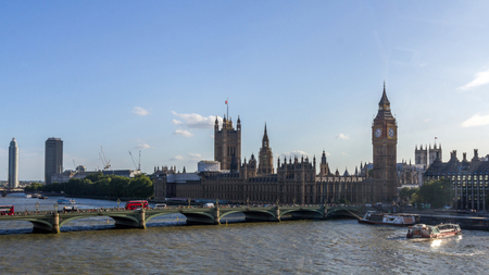 london skyline: Houses of Parliament, Westminster Palace, London: the meeting place of the House of Commons and the House of Lords.