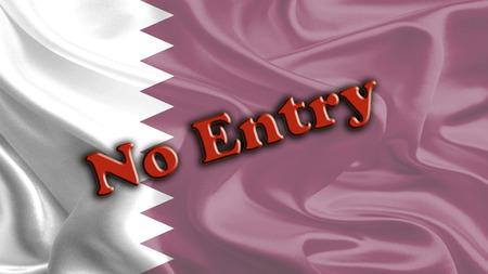 entry: No Entry Massage on Waving Qatar Flag