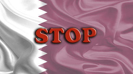 middleeast: Stop Massage on Waving Qatar Flag