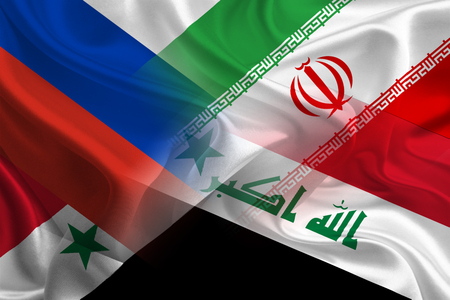 syria peace: Iraq, Russia, Syria, and Iran unionize to fight against ISIS Stock Photo