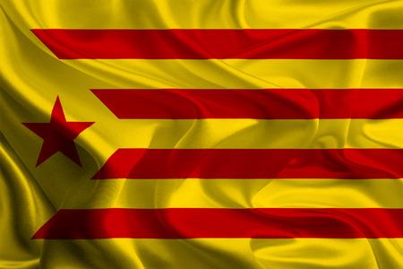 separatist: Red Catalan independence flag