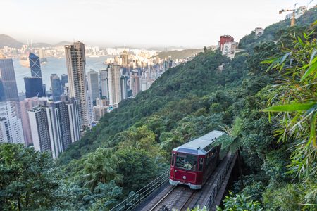 Peak Tram in Hong Kong Editorial