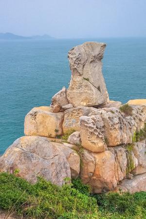 fa: Fa Peng Rock in Cheung Chau Island  in Hong Kong