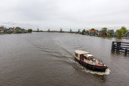 zaan: A boat moving in Zaan river