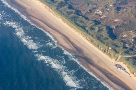 bird 's eye view: Birds eye view of Western shoreline of Netherlands
