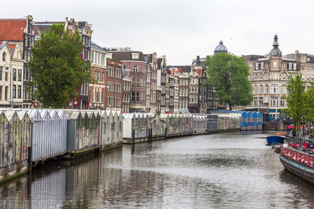 sited: The Bloemenmarkt is the worlds only floating flower market. Founded in 1862, it is sited in the Amsterdams southern canal belt.